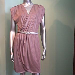 Pre loved bisou bisou shimery rosedrape midi dress